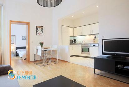 Ремонт кухни-зала в квартире 56 кв.м. в Строгино, фото-1