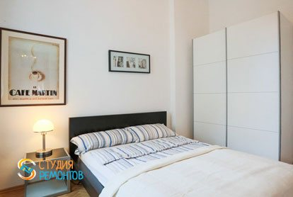Ремонт спальни в квартире 56 кв.м. в Строгино