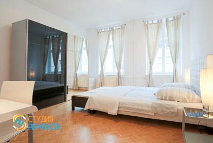 Ремонт спальной комнаты в квартире 56 кв.м. в Строгино