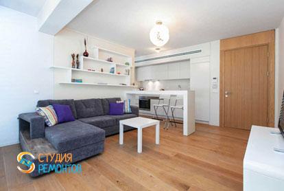 Ремонт кухни-гостиной в квартире 57 кв.м. в Беляево, фото-2