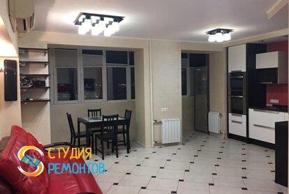 Евроремонт кухни-зала в квартире 65 м2