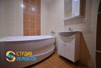 Евроремонт ванной в квартире 70 кв.м.