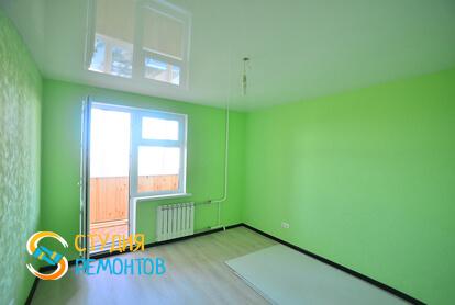 Евроремонт жилой комнаты в квартире 70 кв.м.