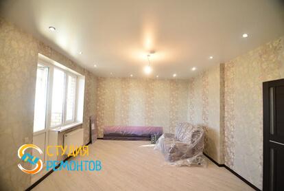 Капитальный ремонт гостиной комнаты в квартире 70 кв.м.