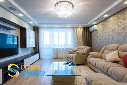Евроремонт гостиной комнаты в квартире 80 м2