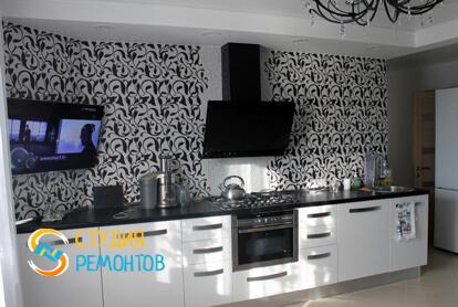 Евроремонт кухни-столовой в квартире 80 м2 фото 2