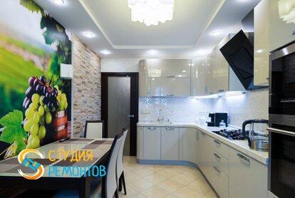 Евроремонт кухонной комнаты в квартире 80 кв.м.