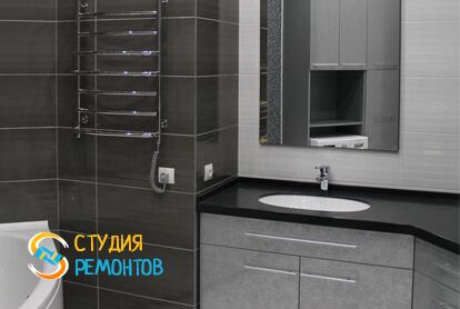 Евроремонт совмещенного санузла в квартире 80 кв.м. фото 2