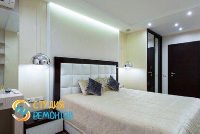 Евроремонт спальной комнаты комнаты в квартире 80 кв.м.