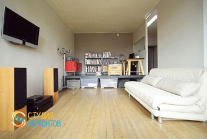 Ремонт квартиры-студии 40 кв.м. под ключ. Комната, фото-2
