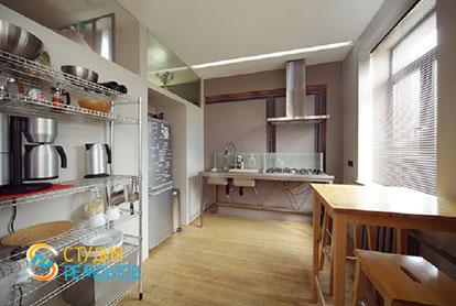 Ремонт квартиры-студии 40 кв.м. под ключ. Кухня, фото-1