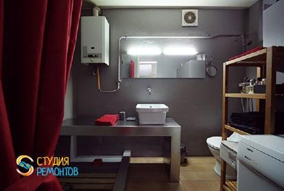 Ремонт квартиры-студии 40 кв.м. под ключ. Ванная и туалет