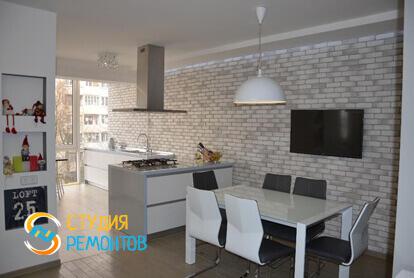 Евроремонт кухнной зоны в квартире-студии 23 кв.м.