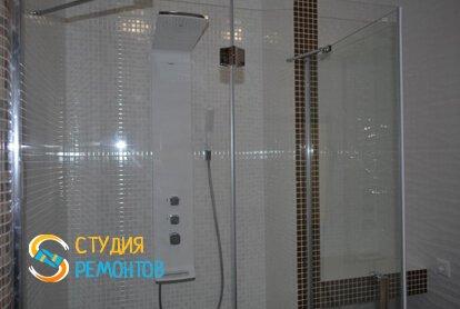 Евроремонт ванной в квартире-студии 27,2 кв.м. фото 1