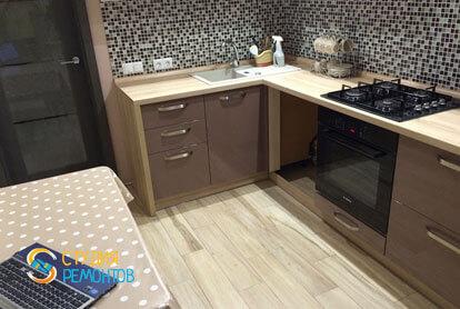 Ремонт кухни в квартире 51 кв.м. в стиле лофт фото-2