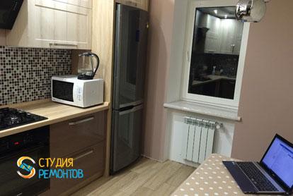 Ремонт кухни в квартире 51 кв.м. в стиле лофт фото-3