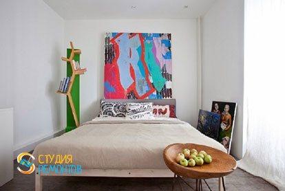 Ремонт квартиры в стиле лофт 40 м2. Спальня