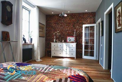 Ремонт спальни в квартире 51 кв.м. в стиле лофт