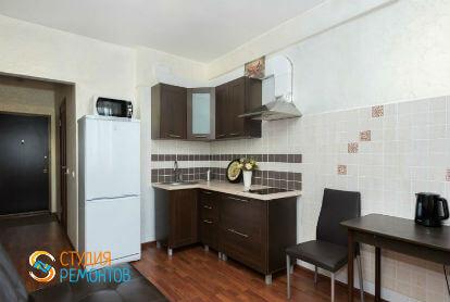Ремонт кухни в однокомнатной новостройке 39 кв. м. под ключ