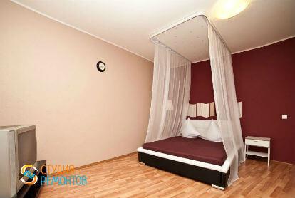 Ремонт спальни в однокомнатной новостройке 38 кв. м. под ключ