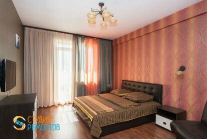 Ремонт спальни в однокомнатной новостройке 39 кв. м. под ключ