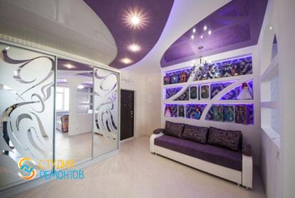 Евроремонт комнаты-кухни студии в новостройке 42,2 кв.м. фото 1