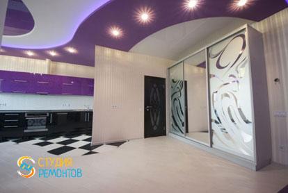 Евроремонт комнаты-кухни студии в новостройке 42,2 кв.м. фото 2