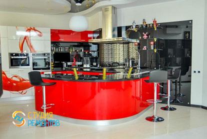 Евроремонт кухни студии 50,6 кв.м.
