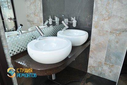 Евроремонт ванной студии 50,6 кв.м.