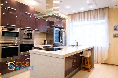 Евроремонт кухни в таунхаусе 79 кв. метров под ключ