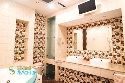 Евроремонт ванной комнаты в таунхаусе 79 кв. метров под ключ