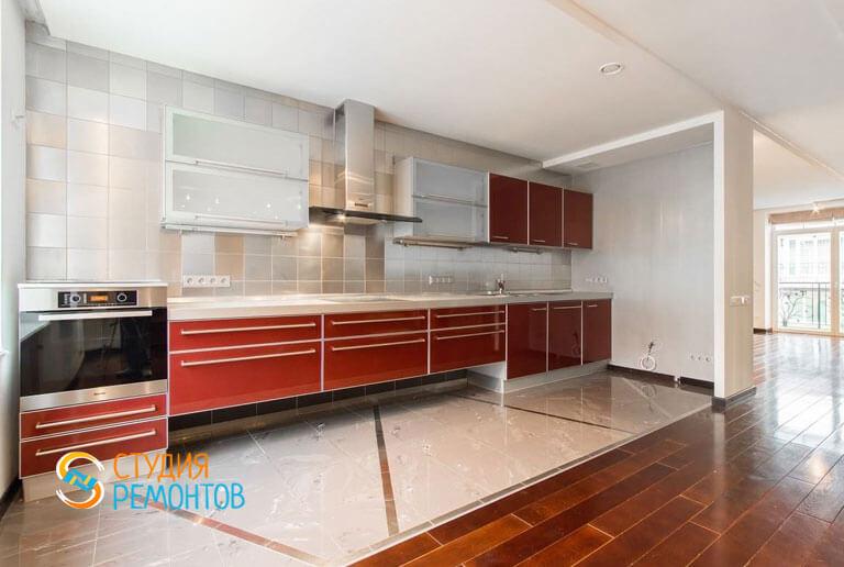 Ремонт кухни в таунхаусе 66 м2 под ключ