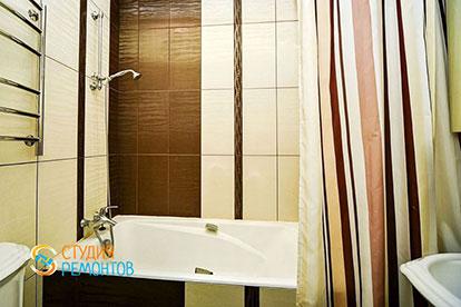 Ремонт ванной в таунхаусе 43 м2 под ключ