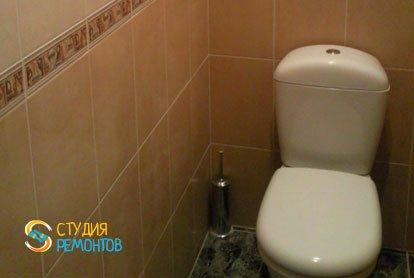 Ремонт туалета под ключ 2,4 кв.м.