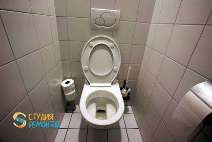 Ремонт туалетной комнаты под ключ 1,6 кв.м.