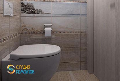 Ремонт туалетной комнаты под ключ 2 кв.м. фото 1