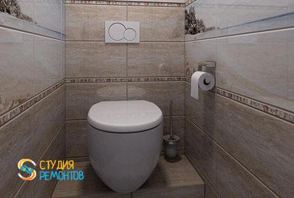 Ремонт туалетной комнаты под ключ 2 кв.м. фото 2
