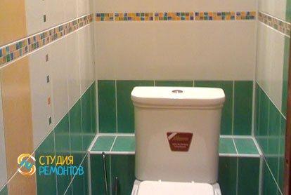 Евроремонт туалета 1,6 м2
