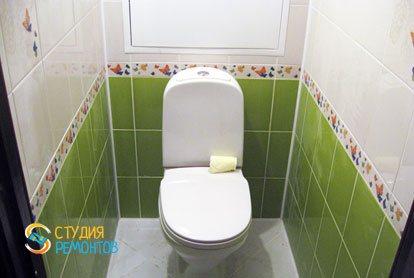 Евроремонт туалетной комнаты 1,6 кв.м.