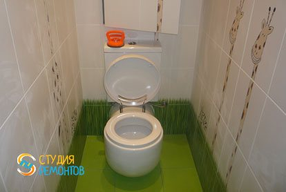 Евроремонт в туалетной комнате 1,6 м2