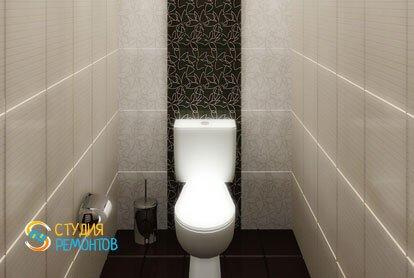 Кап. ремонт туалета 1,6 кв.м.