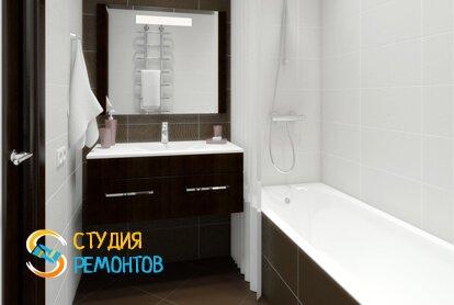 Отделка ванной панелями 11 кв.м.