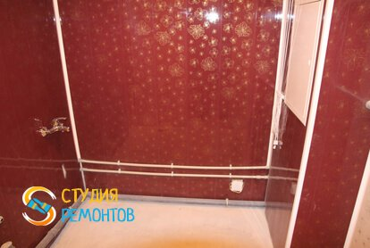 Отделка ванной панелями 6 кв.м.