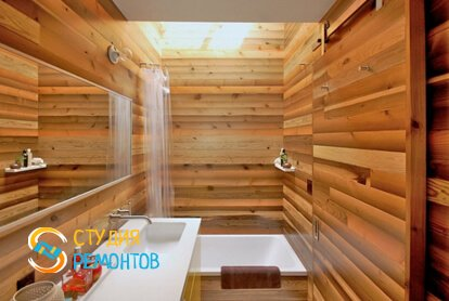 Отделка ванной панелями 9 кв.м.