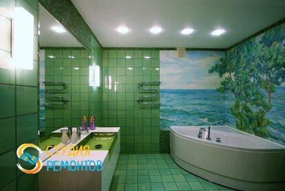 Отделка ванной плиткой 12 кв.м.