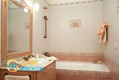 Отделка ванной плиткой 7 кв.м.