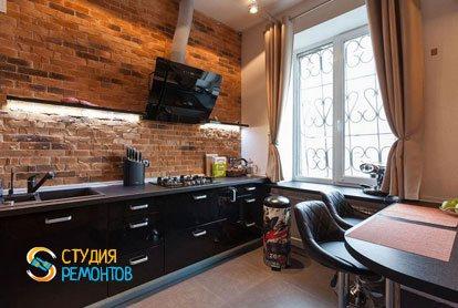 Ремонт кухни в квартире 42 м2 в стиле лофт