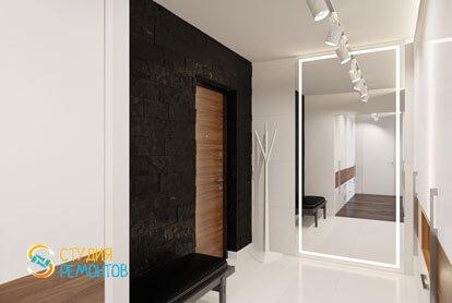 Ремонт коридора в квартире 51,5 кв.м. в современном стиле
