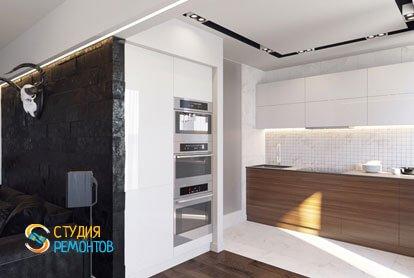 Ремонт кухни в квартире 51,5 кв.м. в современном стиле