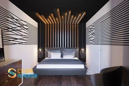 Ремонт спальни в квартире 51,5 кв.м. в современном стиле